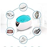 RENYAYA Detergente ad ultrasuoni, 750ML Professionale gioielleria Lavatrice Cleaner per la Pulizia Occhiali, Orologi, Collana, Anelli, Protesi, con Timer Digitale LCD,Blue