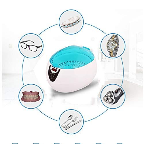 RENYAYA Ultraschallreiniger, 750ML Professional Schmuck Reiniger Waschmaschine für die Reinigung von Augenbrillen, Uhren, Halskette, Ringe, Dentures, Mit Digital LCD Timer,Blue - Lcd Uhr Dusche