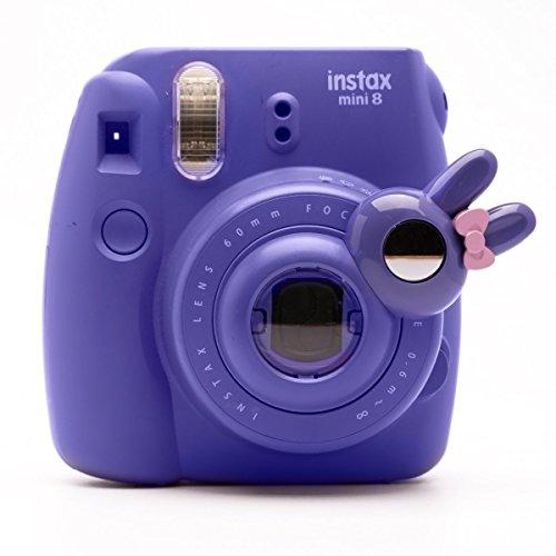 Süßes Häschen Selfie und die Nahaufnahme Lens für Fujifilm Instax Mini8 Mini9s Hellokitty Instant Kamera(Violett Häschen)