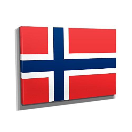 Norwegen - Kunstdruck auf Leinwand (90x60 cm) zum Verschönern Ihrer Wohnung. Verschiedene Formate auf Echtholzrahmen. Höchste Qualität.