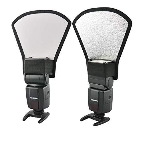 Universal Fan Form Flash Diffusor Reflektor Kit Bend Bounce Positionierbarer Diffusor Silber Reflektor for Fotografie Outdoor Portrait Video Aufnahme Reflektierende Tafel (Fan Diffusor)