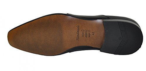École–Chaussures pour homme avec ceinture assortie en cuir véritable en différentes couleurs (806(M) Noir - Noir