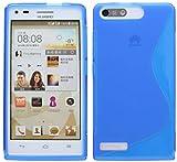 Energmix S-line TPU Custodia Protettiva Compatibile con Huawei Ascend G6 Custodia in Silicone Blu