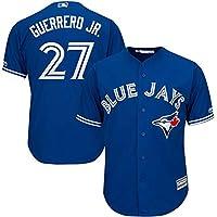 YQSB Camiseta Deportiva Baseball Jersey Uniforme de béisbol Toronto Jays # 27 Guerrero Jr,Blue,Men-M
