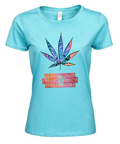 makato Damen T-Shirt Luxury Tee Mj Fact Aqua