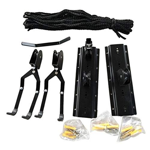 Peanutaod Multifunktions Kajak Hoist Pulley System Bike Lift Display Kleiderbügel Haken Garage Decke Storage Rack Kleiderbügel mit Free Rope (Rack Kajak-boden)