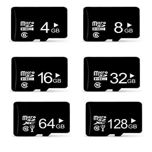 Micro-SD-Karte und Mini-SD-Karte (16 GB / 32 GB / 64 GB / 128 GB, Klasse 10, microSD-Karte) für Handy, MP3- und MP4-Player