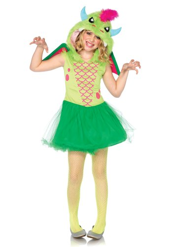 Leg Avenue C48206 - Kostüm Set Zauber Drachen, Größe S, grün Leg Avenue Magic
