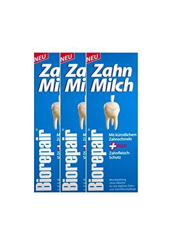 3x BIOREPAIR Zahn-Milch 500ml PZN: 12387056 Ohne Alkohol NEU Zahnfleisch-Schutz