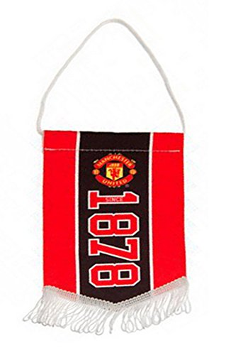 Neue Offizielle Fußball Team zum Aufhängen Mini Streifen Wimpel (verschiedene Mannschaften zur Auswahl.) wird in offizieller Verpackung. Gr. Einheitsgröße,  - Manchester United (Flag Red Football)