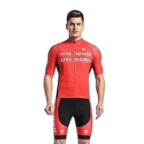 Logas Outdoor Sports Radtrikot Bib-Shorts Anzug Fahrrad Pro Team Breath Fahrrad-kurze Hülse Jersey Kleidung für Männer (Shorts Pro Bib Team)