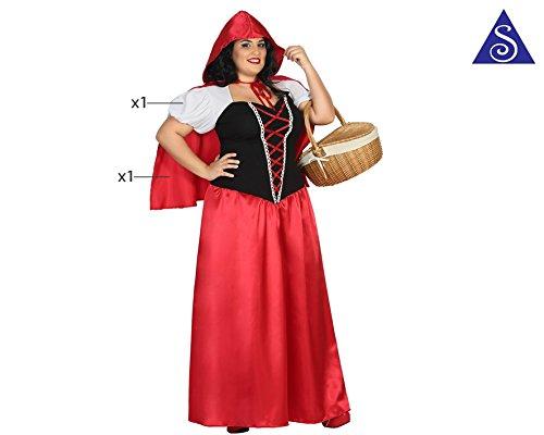 Imagen de atosa 31488–caperucita roja, para mujer disfraz, tamaño xxl, 44/46 alternativa