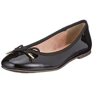 Tamaris Damen 22123 Ballerinas, Schwarz (Black Patent), 41 EU