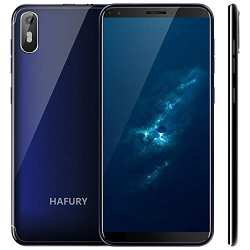 "Hafury A7 (2019) Android 9.0 Dual SIM Smartphone ohne Vertrag, 5.5"" (18:9) Touch Display, 2GB Ram+16GB interner Speicher, Quad-Core, 8MP Hauptkamera / 5MP Frontkamera und Face-Unlock Funktion (Blau)"