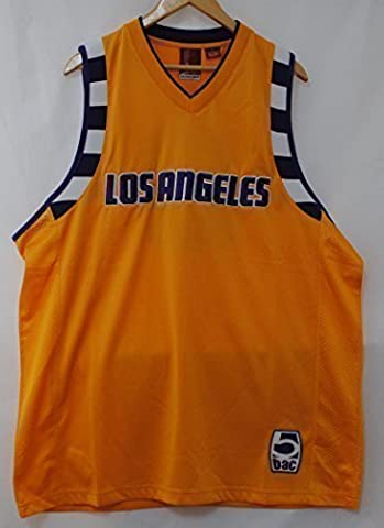 Los Angeles 8 V Neck Yellow White Purple Sports Team Basketball Shirt Jersey (Collo Spur)