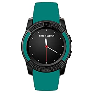 HealthMax HT V8 Green Smartwatch Compatible With Sony Xperia C5 Ultra Mobiles