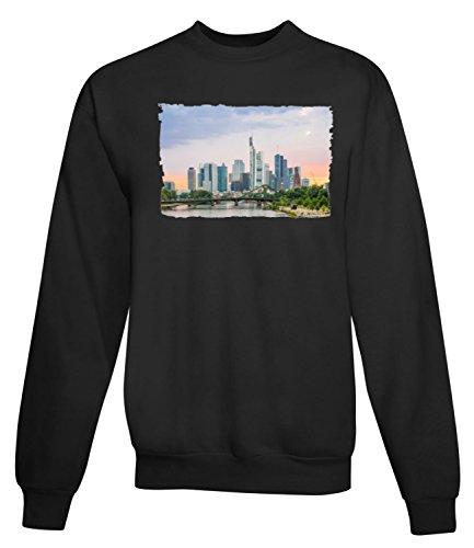 Billion Group | Frankfurt Bridge | City Collection | Women's Unisex Sweatshirt Noir