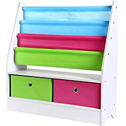 HOMFA Estanteria Infantil para Juguetes Organizador de Juguete Librería infantil para niños 71*23*74cm