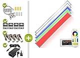 RGB+CCT LED Panel Set 1 120x15cm 22W 24V silber