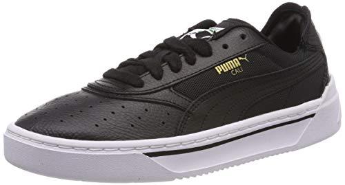 PUMA Cali-0 Zapatillas deportivas de piel Unisex adulto, Negro Puma Black-Puma Black-Puma White ...