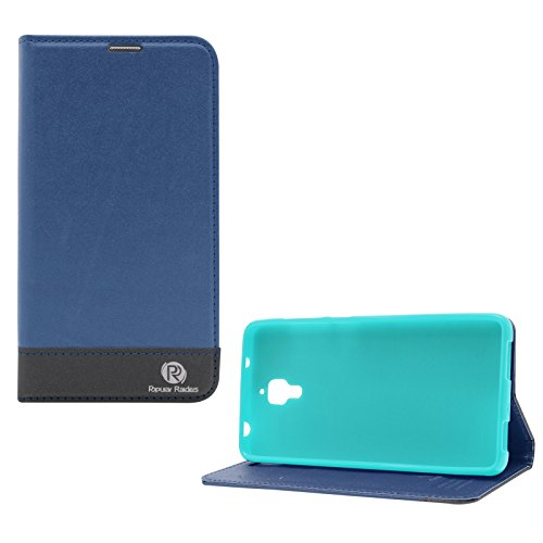 Popular Raiders Magnetic Wallet Flip Folio Stand Book Cover Case For Xiaomi Mi4 (Blue)