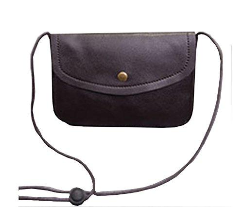 Modakeusu TM lusso opaca PU mini tracolla, borsa a spalla, il cellulare sacchetto White Brown