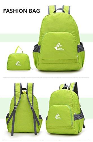 35L Rucksack Wandern Tasche Wandern Camping Wasserdichte Rucksack Für Schule Sport Outdoor Freizeit Unisex Reise, kostenloser Versand (grün)