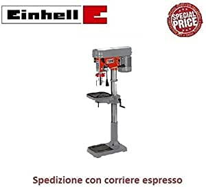 Einhell SB 1625/1 W Trapano a Colonna, Piano a Forare Inclinabile, Regolabile in Altezza, Grigio/Rosso