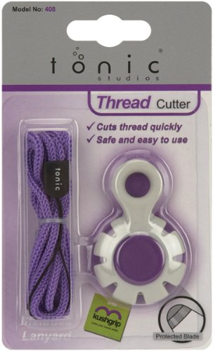 Tonic Studios Cord Kushgrip Thread Cutter-Gray and Purple