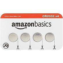 AmazonBasics Lot de 4 piles bouton CR2032 Lithium