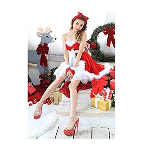 Olydmsky Cosplay Weihnachten Baum Kostüm Mantel Weihnachten Kleid -