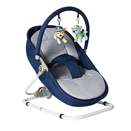 Tragbarer Schaukelstuhl Eisen Faule Mann Waschbar Falten Sleepy Liegen Korb Beschwichtigen Schaukel 3 Farbe 66 cm * 41 cm MUMUJIN (Color : Blue)