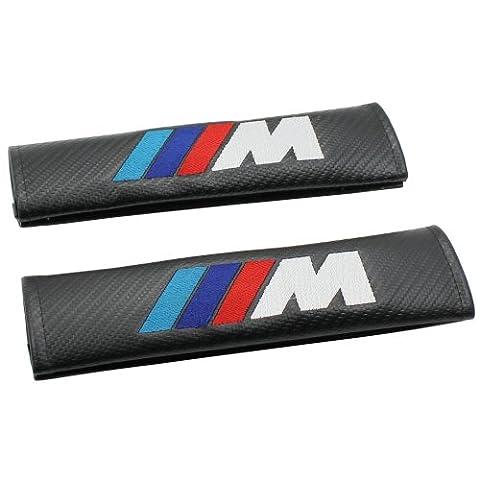 M-Tech Sports Style Ceinture pour siège auto coque en fibre de carbone pour bandoulière pour BMW 1Paire par gooacc