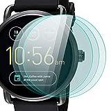 zanasta 3 Stück Schutzfolie für Fossil Q Wander 2. Generation Bildschirmschutzfolie aus gehärtetem Glas   Panzerglasfolie Smartwatch Zubehör