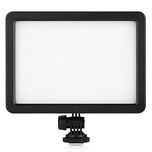 Lightdow 128 LED Video Luce Pannello Dimmerabile Ultra High Power, per Canon Nikon Sony Pentax Panasonic Samsung Olympus Digital SLR Fotocamere Videocamere