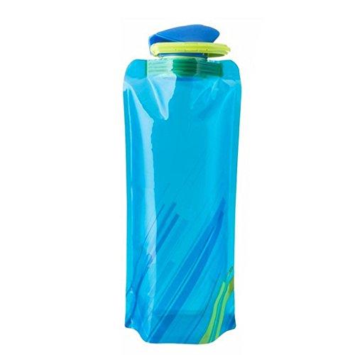 Reutilizable Plegable Bolsa De 750ML Deporte Bicicleta Botella De Agua Para Acampar Libre De BPA