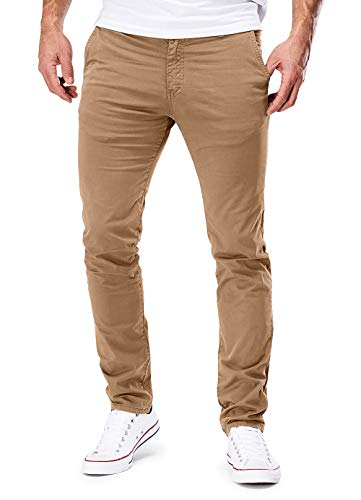 MERISH Chino Herren Slim fit Chinohose Stretch Designer Hose Neu 401 (32-32, 401 Braun)
