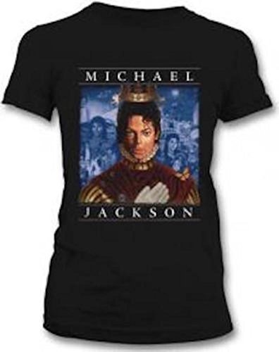 MICHAEL JACKSON - RETROSPECTIVE DUOTONE - OFFICIAL WOMENS T SHIRT (S)