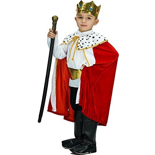 y King Robe und Krone Set Kostüm (10-12 Jahre) ()