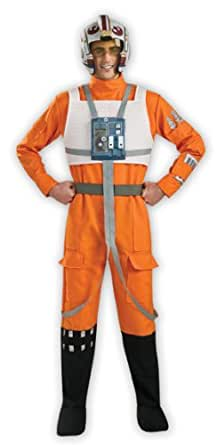 "Deluxe X-Wing Fighter Pilot - Star Wars - Adult Fancy Dress Costume - STD - 42""-44"""