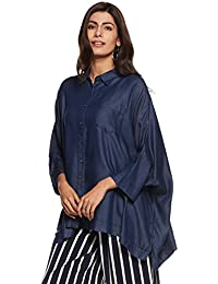 Rheson by Sonam & Rhea Kapoor Women's Denim Kurta Shirt
