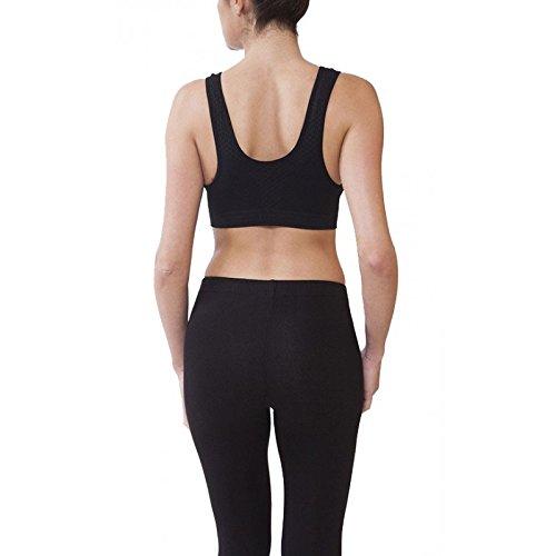Midi Shopping - Brassiere Sport Femme Bandeau Droit Pas Cher 1038 Noir