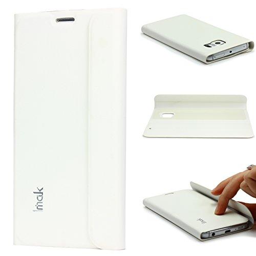 Urcover IMAK Edel Wallet Schutz Hülle für das Samsung Galaxy S6 Edge Tasche [Deutscher Fachhandel] Weiß