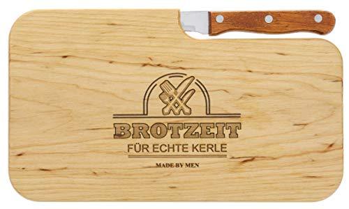 Brotzeitbrett Holz Erle Messer, Brotzeit für echte