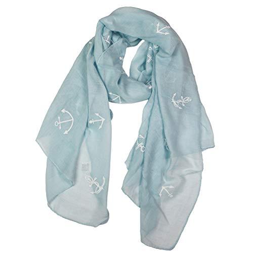 Glamexx24 Sciarpa da donna Bandana Foulard Ancora Militare Stole per la primavera estate Tutto lanno
