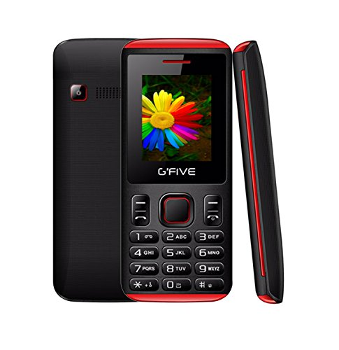 G'Five U707 Black Red 1.8 Inch, Dual SIM Mobile Phone With 950mAh Battery, Selfie Camera, Auto Call Recording, Wireless FM With 1 Year Warranty