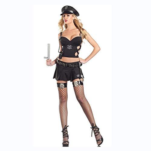 Olydmsky karnevalskostüme Damen Große Größe Sexy weibliche Polizei Kostüm Kostüm Rolle Spielen Spiel (Polizei Kostüm Weiblich)