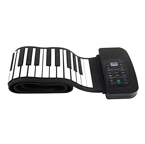 Hand Rolle Piano Tragbare 88-Key Silikon Flexible Roll Up Piano Klapp Tastatur Kinder Anfänger Erwachsene Elektronische Klavier (Klavier-tastatur-roll-up-88)