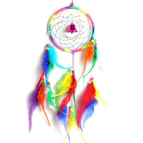 SUDADY-Home Atrapasueños campanillas Artesanía de decoración Colgante de Moda Regalo Ideal para Amigos y Familia (El Color de la Campana es Aleatorio)