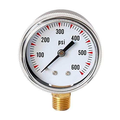 Kapokilly Y50 Radialmanometer, Hochwertiges Manometer Öldruckmessgerät Gasdruckmessgerät, Wasser, Öl, Gasdruckmessgerät